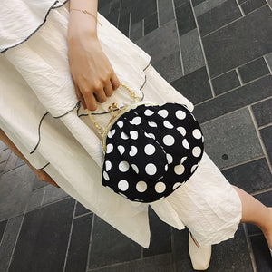 Fashion Women's Bag Rabbit Ear Tote Polka Dot Print Crossbody Bag Shoulder Bag