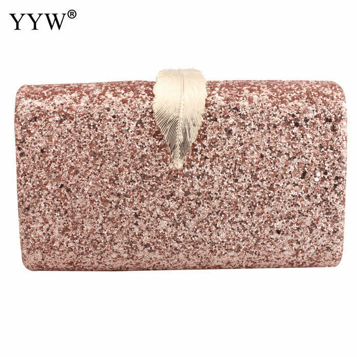 2019 New Sequin Crossbody Bag For Women Evening Clutch Bags Female Mini Party Clutches Purse With Chain Rectangle Shoulder Bag