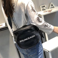 2019 New Summer Letter Women's Bag Wide Shoulder Strap Messenger Bags Semi-circle Saddle Bag Women Purse and Handbags