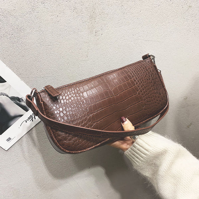 2019 New Vintage Alligator Baguette Ins Popular Designer Bags Women Handbags Purses Hand Bag Fashion PU Leather Female Bag OC688