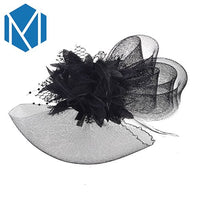 2019 New Women Chic Fascinator Hat Cocktail Wedding Party Church Headpiece Fashion Headwear Fancy Feather Hair Clip Accessories
