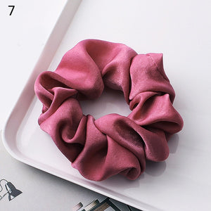 2019 New arrival Fashion women lovely satin Hair bands bright color
