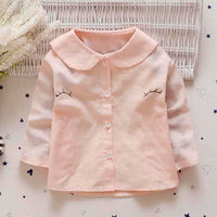 2019 New spring Autumn Kids Baby Shirt Infants for GIRLS Long Sleeve cute eye Basic shirts Tops Baby clothes Y1929