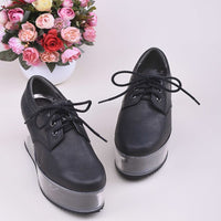 Newest Leather Clear High Heels Women Shoes ladies
