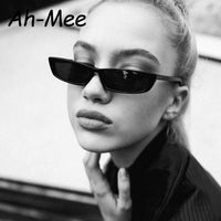 2019 Small Rectangle Frame Sunglasses Women Retro Brand Designer Sun Glasses