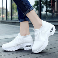 Women Sneakers Shoes Flat Slip on Platform Sneakers for Women Black  Shoes