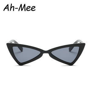 Sunglasses Women Small Triangle Cat Eye Sun glasses Men Vintage Brand Designer Black