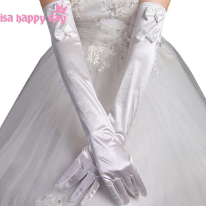2019 Woman Long Elbow Length Party Bridal Dance Gloves Opera