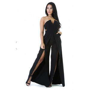 2019 Women Jumpsuit Bodycon Girls Romper Strapless Multicolor Fashion Sexy