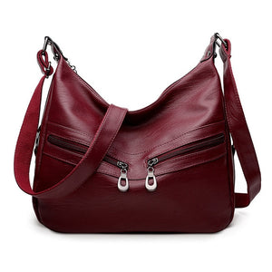 2019 Women Vintage Messenger Flap Bags Sac a Main Female Soft Leather Shoulder Bags Crossbody Bolsas Femininas Black Hobos Bag