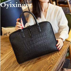 Women's Office Handbag Female Leather Shoulder Bag Ladies Hand Bags