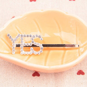 2019 hot fashion letter word rhinestone crystal hairpin hairclips hair clip grip