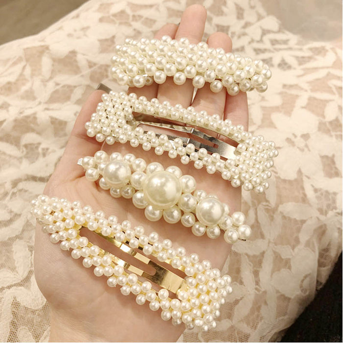 2019 korean Hot Fashion vintage Cute Pearl haircuts hairpins hairgrips headwear barrette hair pin clip grip ornament accessories