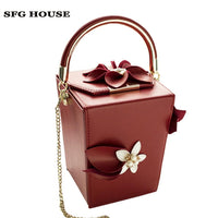 new Pink PU Flowers Beaded Women Totes Bags Evening Party Clutches Clutch Wedding Dinner Handbag