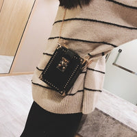 new classical mini women box bag Chian shoulder Messenger bag clutch purse bag cellphone Pu leather