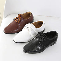 Kids Genuine Leather Wedding Dress Shoes for Boys