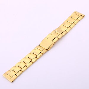 20mm Gold Silver Rose Gold Stainless Steel Watch Band For Men Women