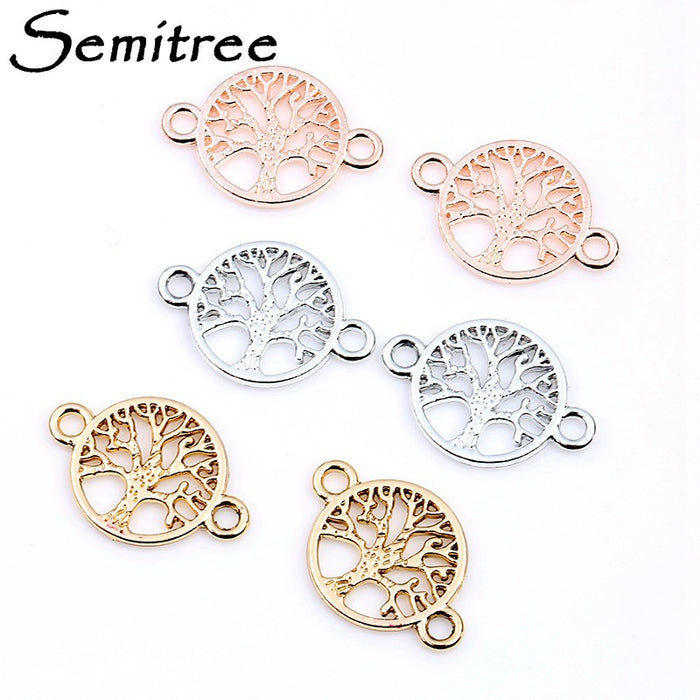20pcs/lot 22*15mm Life Tree Charms Pendant Bracelet Connectors for DIY Necklace Bracelet Jewelry Making Handmade Accessories