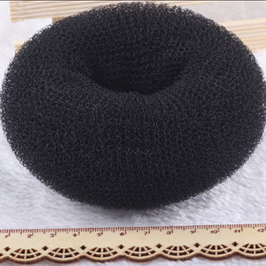 2Pcs Black S M L Magic Blonde Donut Hair Ring Bun Former Shaper Hair Styler Maker Tool