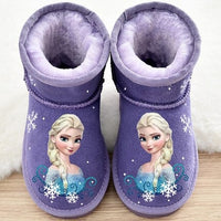 Disney leather children snow boots winter 2020 new short boots cartoon frozen