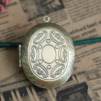 2pcs 39*47mm Oval PHOTO LOCKET Wholesale Antique Bronze Necklace Pendant&Charm Blank Base Findings Settings for Jewelry Making