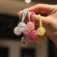 2pcs/lot New Fashion cute double ball elastic hair bands hair ring hair