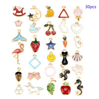 30pcs Mixed Jewelry DIY Bracelet Necklace Charms Findings Craft Supplies Pendants for DIY  Handmade Accessories W77