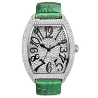 New Barrel-type quartz watch women watches full diamond clock waterproof