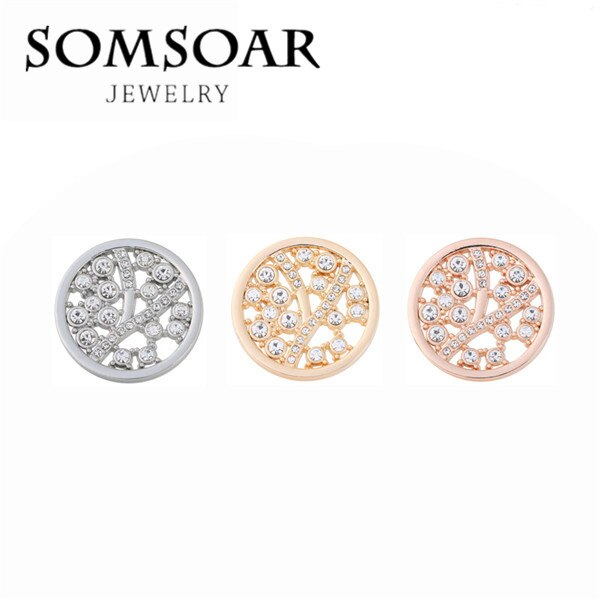 33MM Moon Cave Crystal Coin Disc Fit For 35MM Stainless Steel Coin Holder Frame Pendant Necklace For Women Gift 10pcs/lot