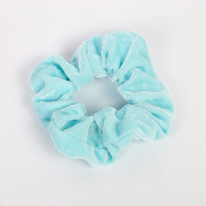 35 colors Velvet Scrunchie Women Girls Elastic Rubber HairBand Gum