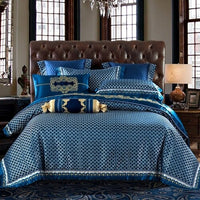 Silk Satin Luxury Royal Bedding set, Flat sheet Bedspread set Pillowcase Duvet cover 2020