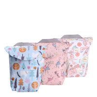 3pcs Reusable Waterproof Mini Small Wet Dry Diaper Bag Pouch For Menstrual Pad
