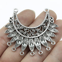 3pcs/lot Antique Silver Color Necklace Connector Charms Pendant Jewelry Connector Charms For Necklace Jewelry Making
