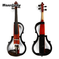 4/4 Wood Electric Violin Black and Brown Musical Instruments