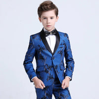 Boy's Suit set Jacket flowers high quality