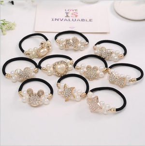4Pcs/Lot Girls Hair Accessories Flower Headband Butterfly Pearl Elastic Hair Bands Korean Fashion Cute Headdress Hairband Women