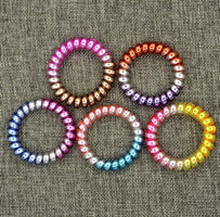 5 PCS Fashion Colorful Telephone Wire Elastic Hair Bands Rope Gum