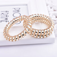 5PCS Hair Accessories Hair Ring Fashion Transparent Telephone Wire Elastic