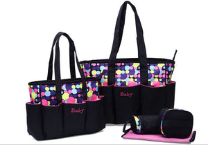 5pcs Large Baby Diaper Bag Set For Mom Mother Women Tote Bag Maternity Changing
