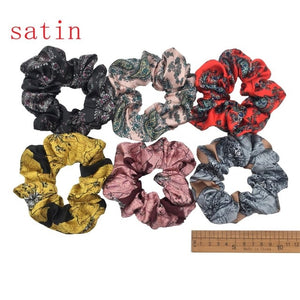 6 pcs/lot Velvet Elastic Hair Ropes Scrunchies Girls' No Crease Hair Ties