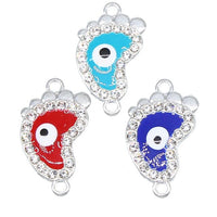6 pieces / lucky evil eye pendant 16 types evil eyes Diy jewelry accessories charm necklace bracelet connector and rings