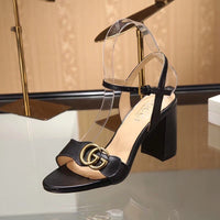 Womens Black Trendy Sandals