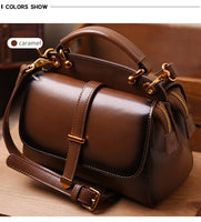 6Color Women Genuine Leather Handbags Famous Brand Handbag Messenger Small Bags Cow Leather Shoulder Bag Fashion Tote Sac A Main