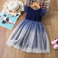 Dress Casual Kids Clothes Lace Long Sleeves Dress Children's Vestidos For 3-8T