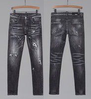 New slim Denim jeans pants European style with hole Pants for men 2020