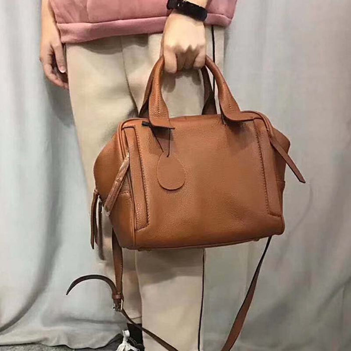 AETOO New fashion handbags first layer cowhide portable  bag commuter large capacity single shoulder Messenger real leather bag