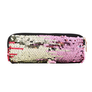 ALLOYSEED Sequins Pencil Case Cosmetics Bags Women Girls Purse Wallet Clutch Pen Bags for School Stationery