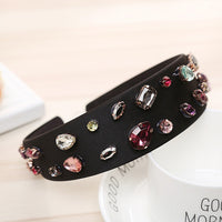 AWAYTR New Headband for Women Pearl Rhinestone Hair Accessories Female Retro Luxury Hairband Wide-brimmed Girls Hair Accessories