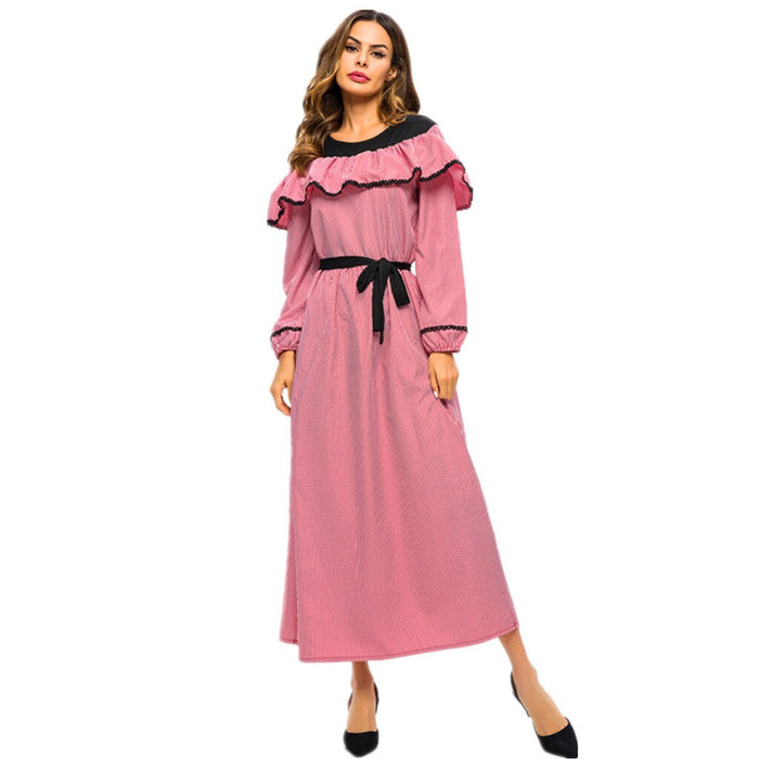 Abaya Women Long Floral Muslim Hijab Dress Islamic Long Maxi Dress 4.10