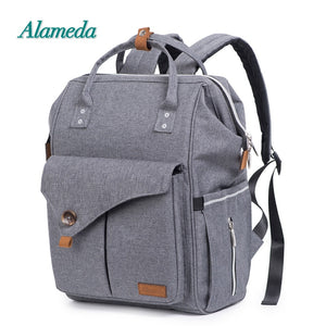 Alameda Fashion Mummy Maternity Bag Multi-function Diaper Bag Backpack Nappy